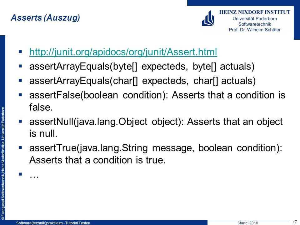 assertArrayEquals(byte[] expecteds, byte[] actuals)
